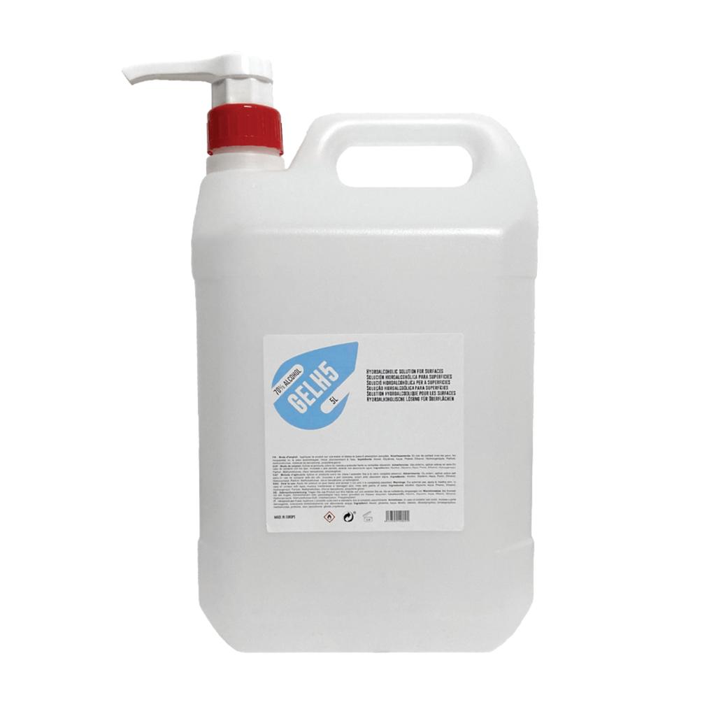 Gel hidroalcohólico 5000ml con dosificados