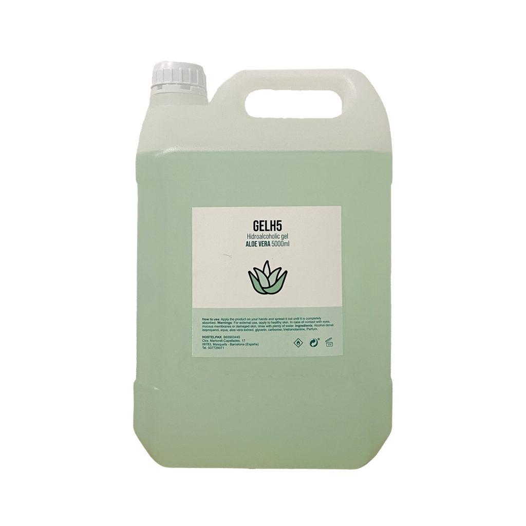 Gel hidroalcohólico con aloe vera 5000ml